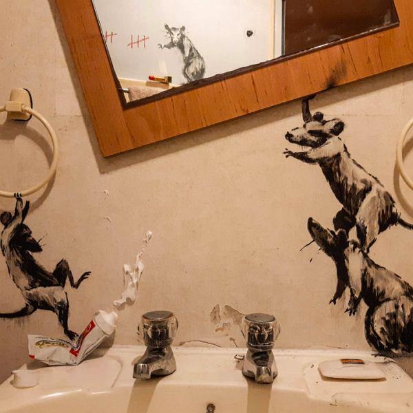 Banksy i jego 'home office'