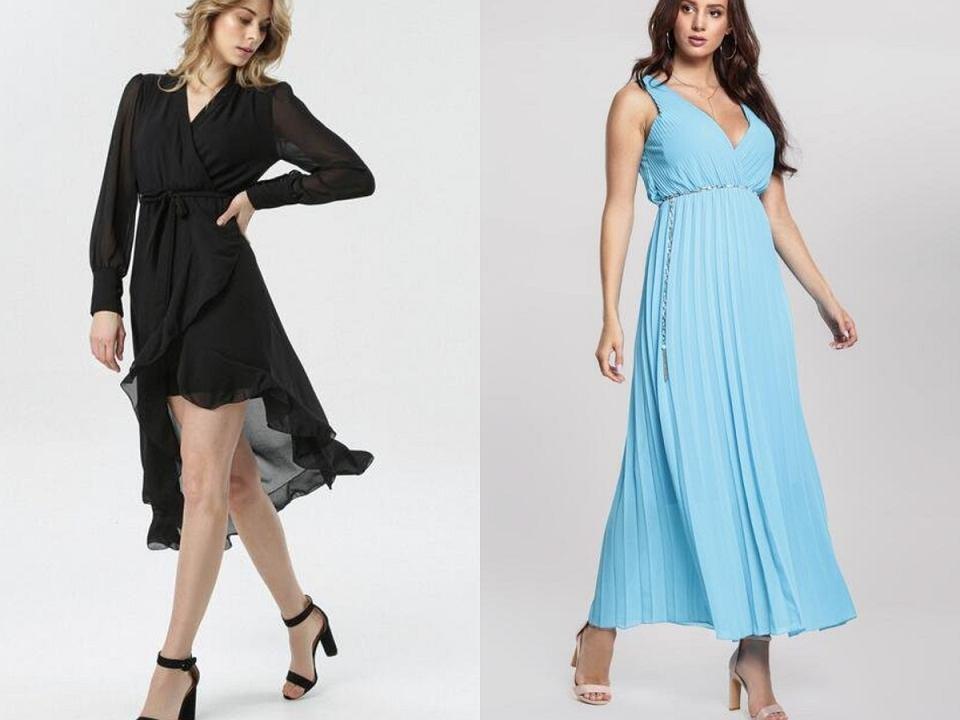 sukienki kopertowe eleganckie