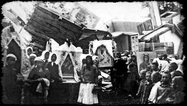 Ze zburzonej XVII-wiecznej cerkwi w Prehoryłem wierni zdołali uratować słynącą z cudów miejscową ikonę Matki Bożej