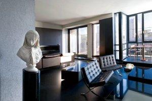 Wnętrza: czarny apartament