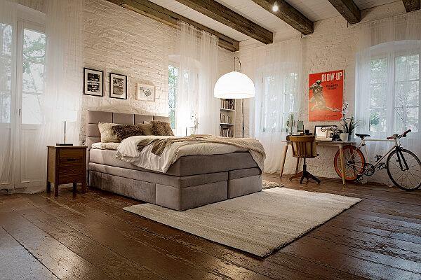 Łóżko kontynentalne z pojemnikiem