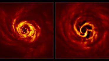Zdjęcie układu AB Aurigae wykonane przez teleskop VLT