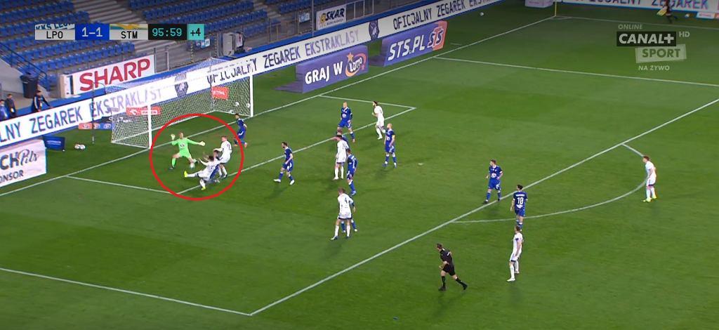 Lech Poznań przegrał 1:2 ze Stalą Mielec po golach w końcówce meczu