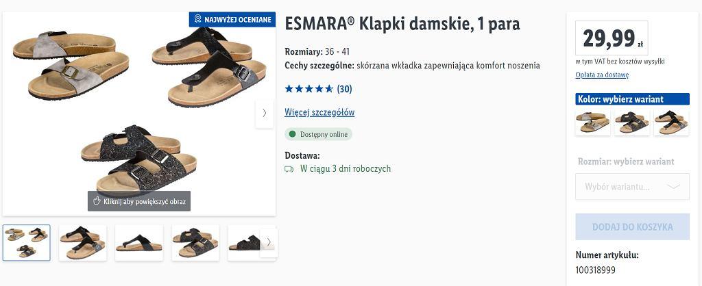 Lidl sprzedaje klapki za mniej niż 30 zł