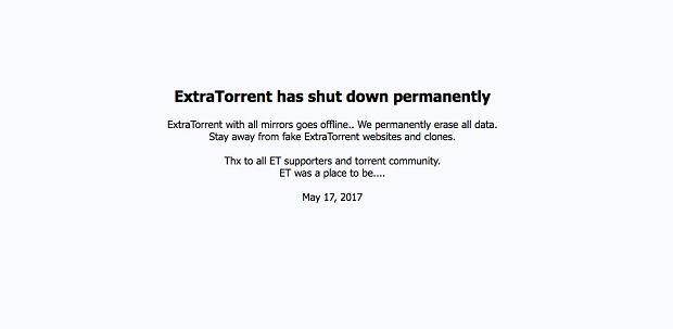 Informacja o zamknięciu serwisu ExtraTorrent
