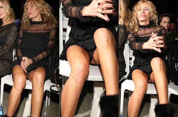 Zdjęcie numer 6 w galerii - Aneta Kręglicka zapomniała, że w mini trzeba być ostrożniejszą. Podobna wpadka przydarzyła się nawet Rusin