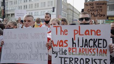 KProtest w Warszawie w sprawie zatrzymania na Bialorusi Ramana Protasiewicza