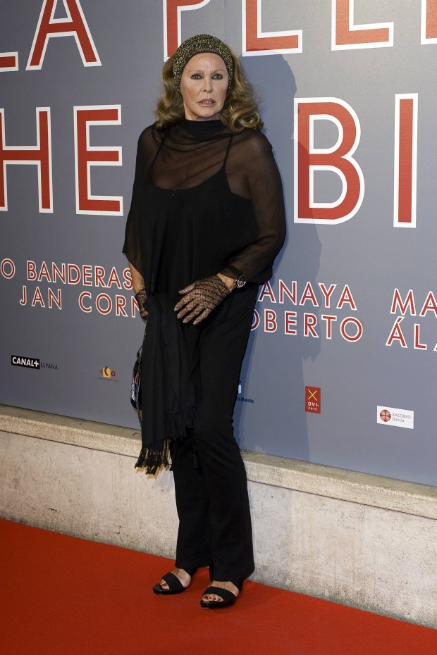 "MAVRIXONLINE.COM - DAILY MAIL ONLINE OUT - Ursula Andress at the premiere of Pedro Almodovar's last film ""La piel que habito"" at the Embassy Cinema. Rome, Italy. 20th September 2011.  Fees must be agreed for image use.  Byline, credit, TV usage, web usage or linkback must read MAVRIXONLINE.COM.  Failure to byline correctly will incur double the agreed fee.  Tel: +1 305 542 9275."