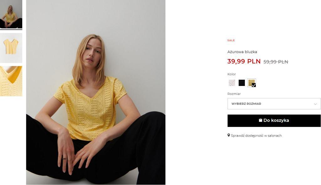 ażurowa bluzka