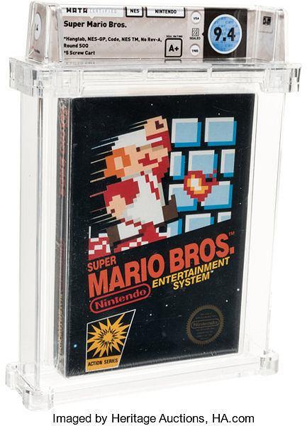 Super Mario Bros sprzedany za 114 tys. dol.