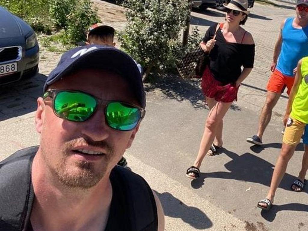 Adam Małysz na wakacjach