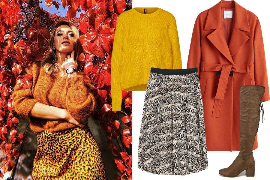 ubrania w kolorach jesieni/mat. partnera