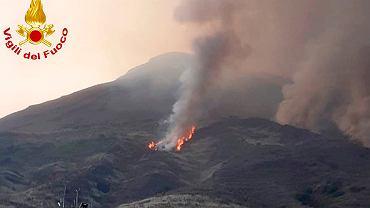 Włochy. Wybuch wulkanu Stromboli