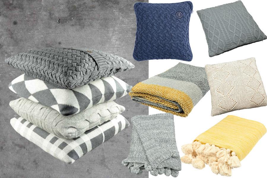 Wełniane koce i poduszki