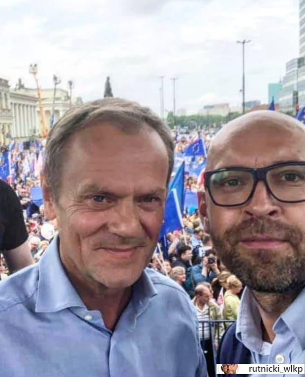 Jakub Rutnicki i Donald Tusk