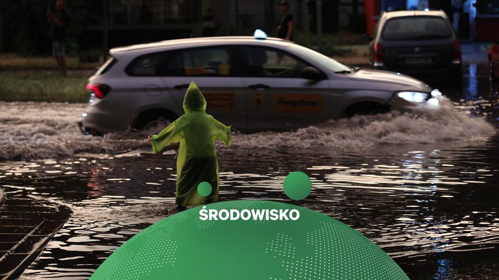 Kraków zalany po ulewie