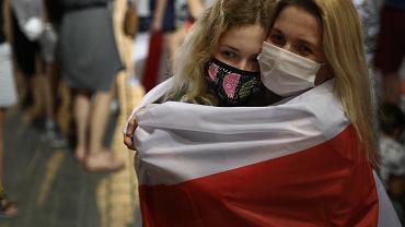 Manifestacja solidarności z Białorusią, Rynek Główny w Krakowie, 15 sierpnia 2020 r.