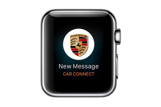 Aplikacja Porsche Car Connect na Apple Watch