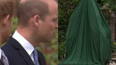 William i Harry na odsłonięciu pomnika