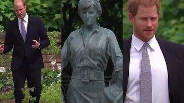 Pomnik Diany. Książę Harry, książę William