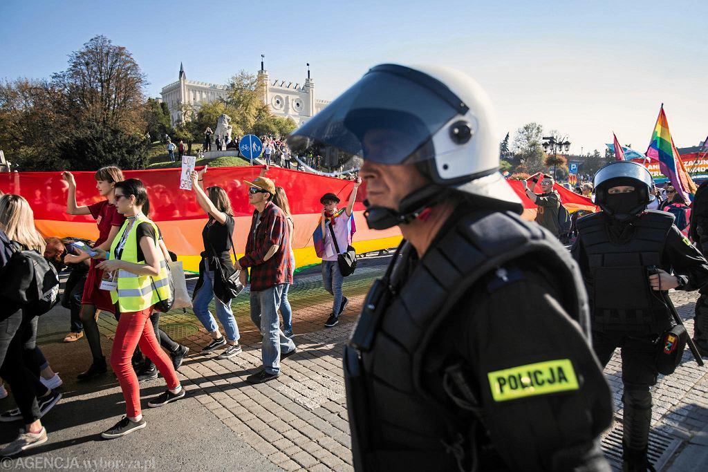 13.10.2018, Lublin, pierwszy marsz równości.