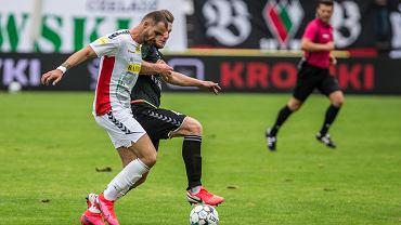 Lukas Duriska z Zagłębia Sosnowiec zawinił przy golu dla Chrobrego Głogów