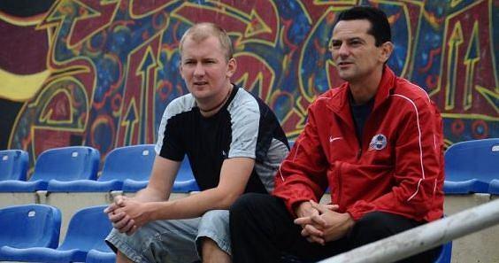 Marcin Łazowski (z lewej) z Maciejem Mateńko