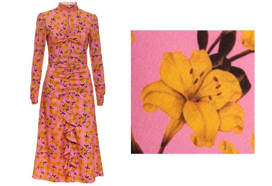 Sukienki Bizuu łatwo rozpoznać po krojach midi i charakterystycznych wzorach w klimacie retro