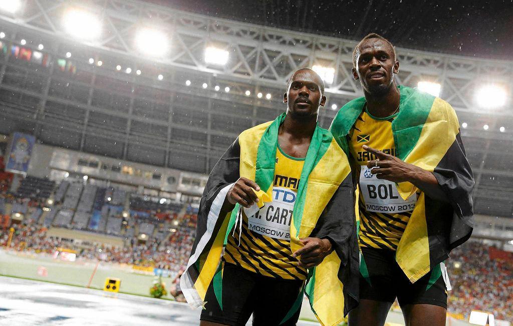 Nesta Carter (z lewej), obok Usain Bolt