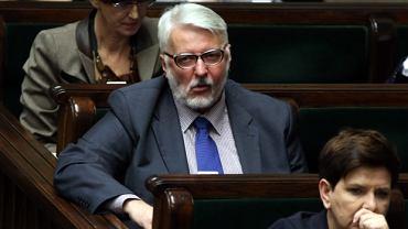 Min. Witold Waszczykowski w Sejmie