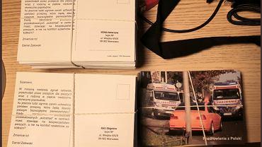 Kartki rozesłane przez warszawskiego radnego do nowych posłów i senatorów