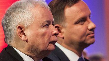 Jarosław Kaczyński i prezydent RP Andrzej Duda