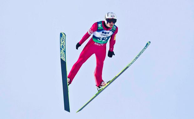 Piotr Zyla of Poland competes during the men's Ski Jumping World Cup race in the Holmenkollen Ski Arena in Oslo March 17, 2013. REUTERS/Vegard Grott/NTB Scanpix (NORWAY - Tags: SPORT SKIING) ATTENTION EDITORS - THIS IMAGE HAS BEEN SUPPLIED BY A THIRD PARTY. IT IS DISTRIBUTED, EXACTLY AS RECEIVED BY REUTERS, AS A SERVICE TO CLIENTS. NORWAY OUT. NO COMMERCIAL OR EDITORIAL SALES IN NORWAY. NO COMMERCIAL SALES SLOWA KLUCZOWE: :rel:d:bm:GF2E93H194C01