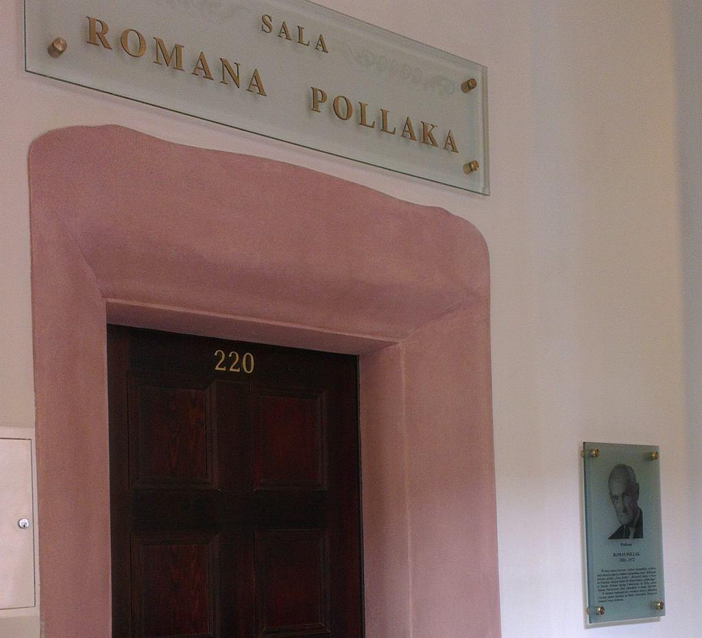 Sala Romana Pollaka, założyciela Cracovii i rektora uniwersytetu w Poznaniu