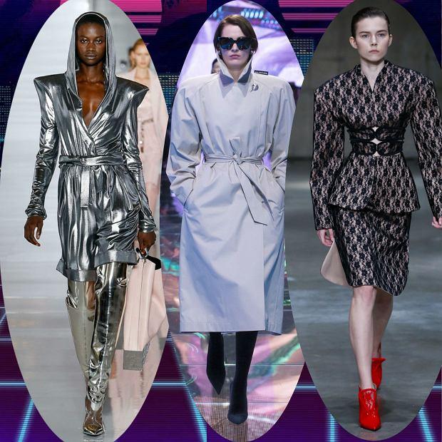 Mocno zarysowane ramiona, poduszki, bufki i metalik - wiosną i latem 2019 roku modne będą lata 80.