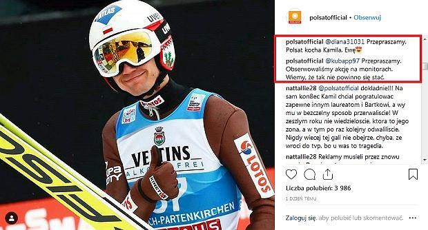 Polsat przeprasza Kamila Stocha