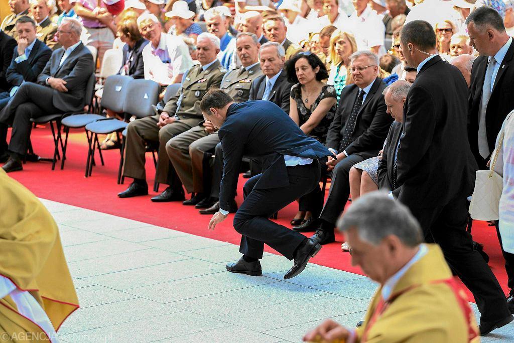 Andrzej Duda podczas mszy z okazji Święta Dziękczynienia
