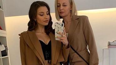 Julia Wieniawa z mamą