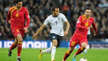 Andros Townsend w meczu Anglia - Czarnogóra