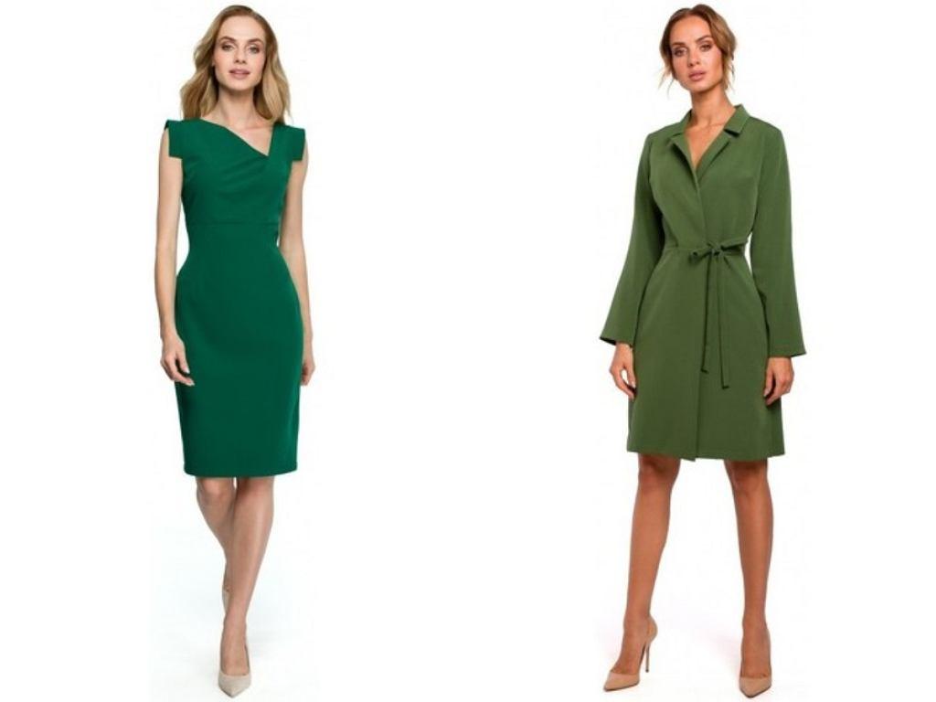 sukienki na wesele w zielonym kolorze