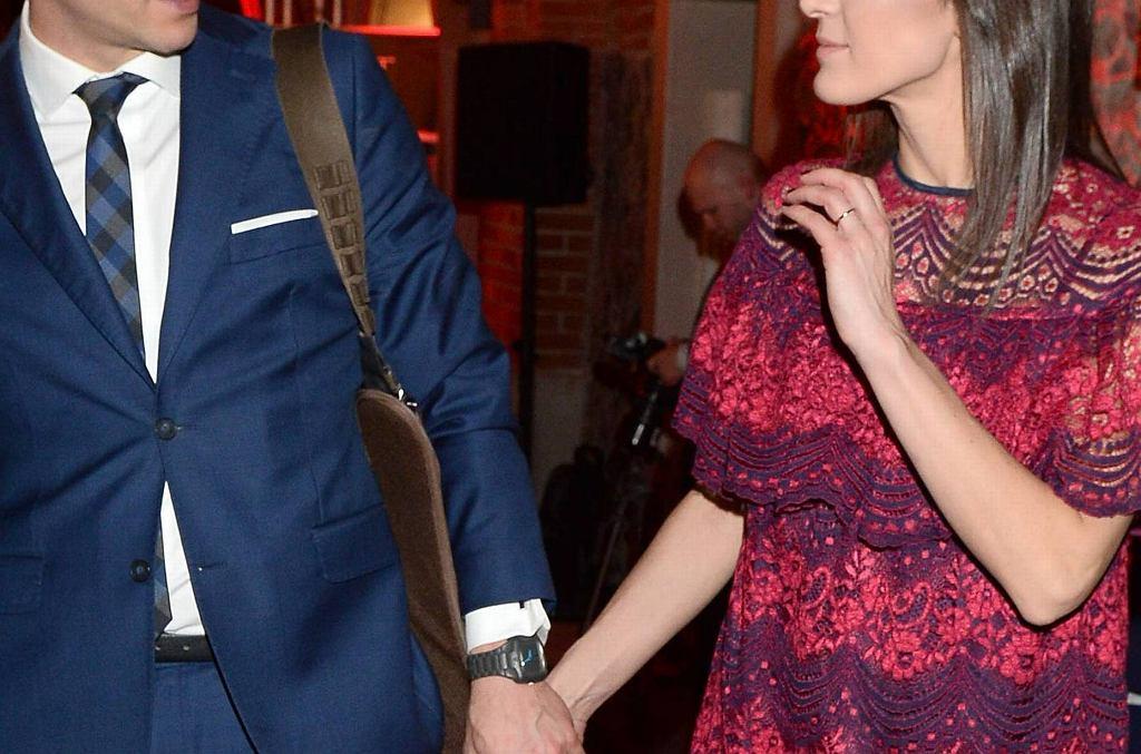 Tomasz Wolny z żoną