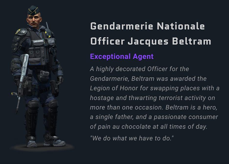 Agent Jacques Beltram dostępny w CS:GO.