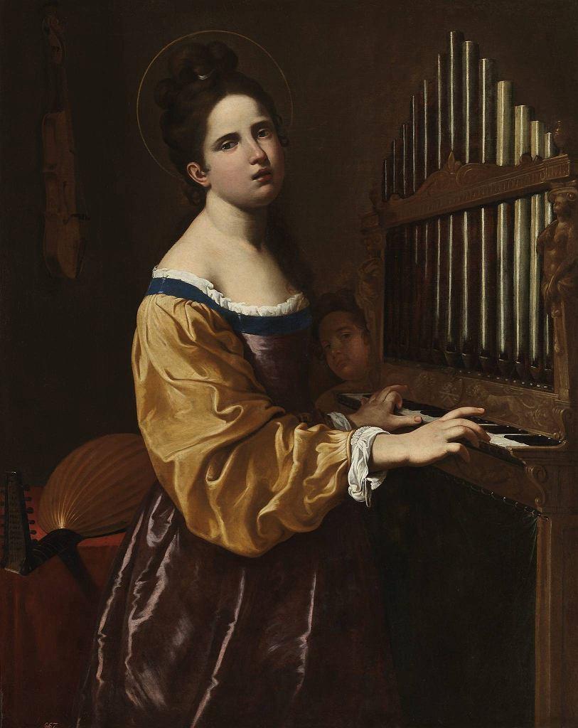 / Artemisia Gentileschi, Santa Cecilia