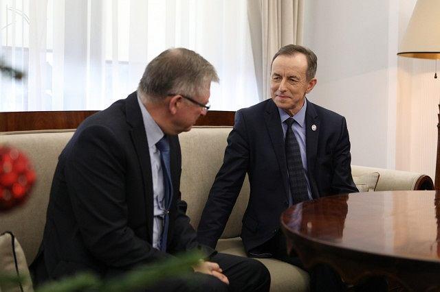 Spotkanie marszałka Senatu Tomasza Grodzkiego z ambasadorem Rosji Siergiejem Andriejewem
