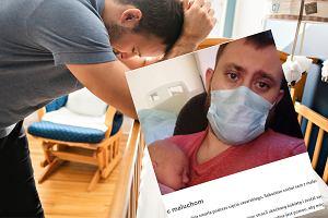 34-letni Sebastian został sam z dwójką dzieci. Jego partnerka zmarła w trakcie porodu