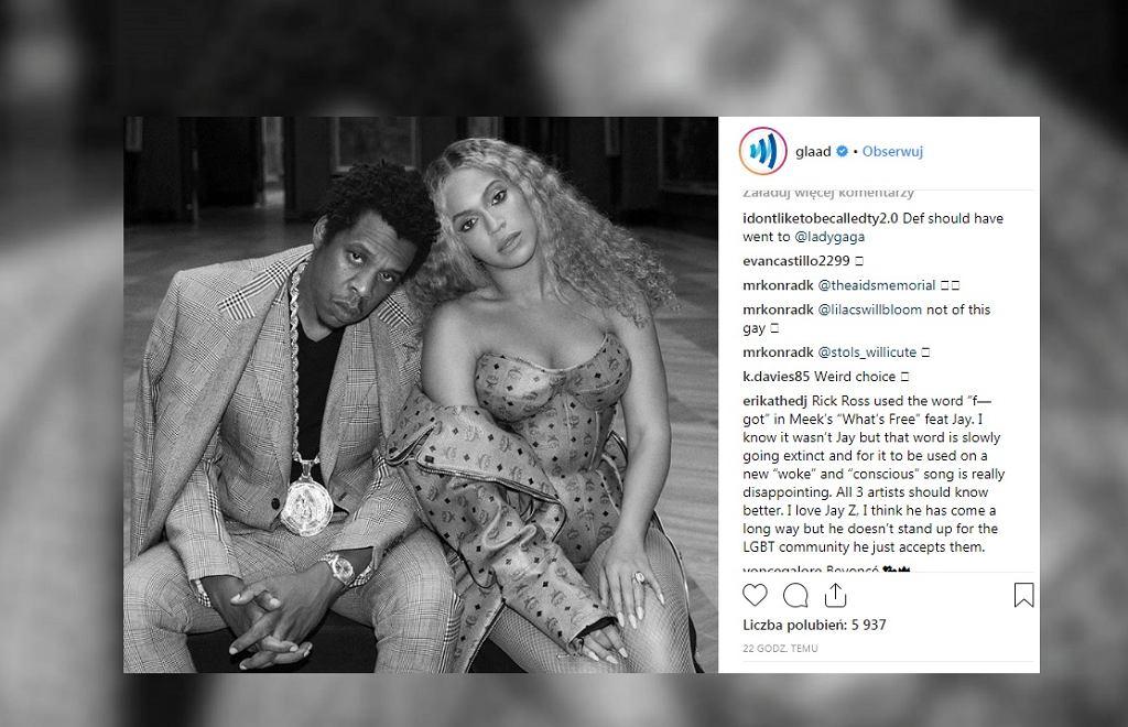 Beyonce i Jay-Z laureatami nagrody za wsparcie środowisk LGBT.