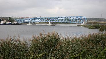 Odra w Szczecinie, widok na most Brdowski.