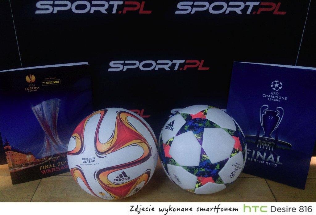 Piłki z finałów UEFA Europa League i UEFA Champions League