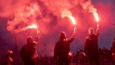2020 rok. Marsz Niepodległości w Warszawie