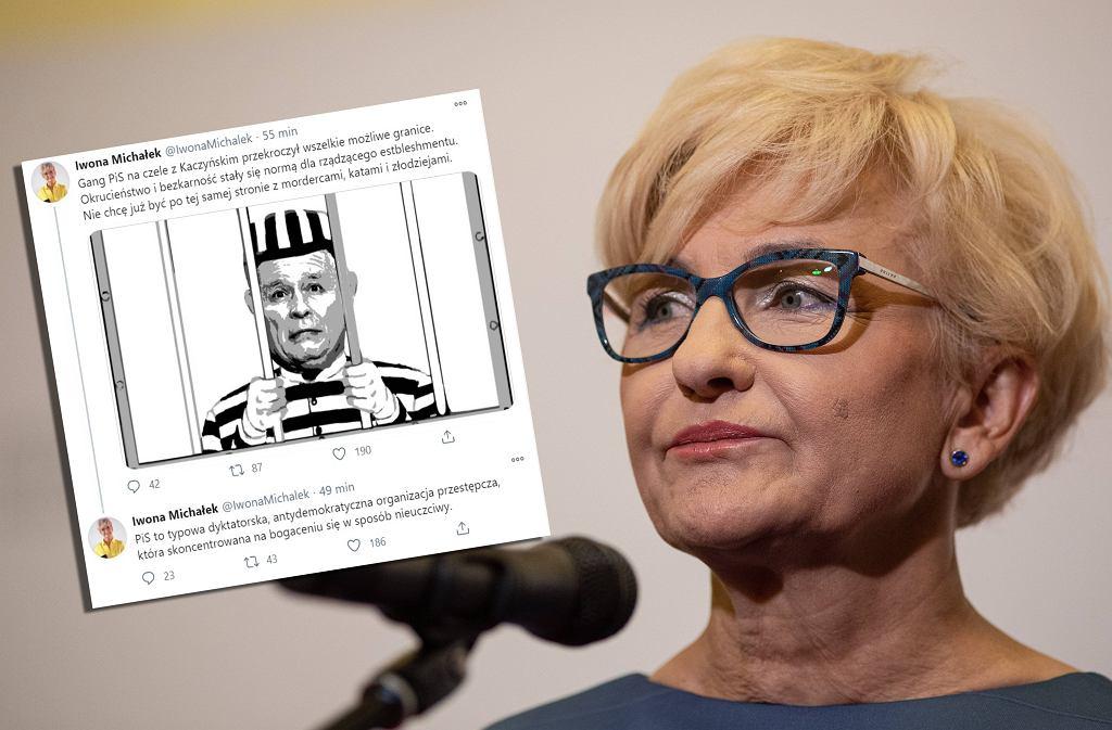 Iwona Michałek i ostatni wpis na Twitterze.
